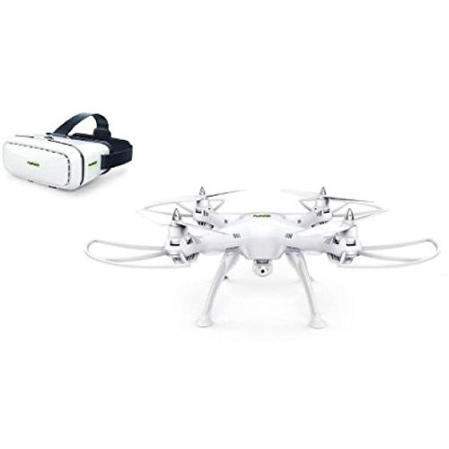 Promark P70 Drone with 3D VR Goggles and HD Camera, White