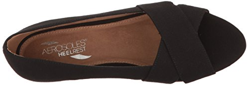 Wedge Sandal Fabric Women Aerosoles Shipmate Black B6xYWqg