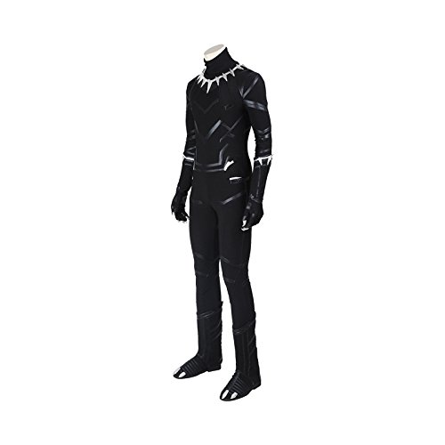 Newhui Halloween Party Dress Up Cosplay Black Panther T'Challa Outfit Costume Whole Set by Newhui