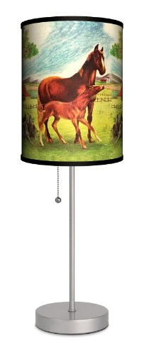 Saturday Evening Post - Jack n' Jill Horses Sport Silver Lamp