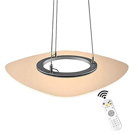 zoovqi - Lámpara colgante LED regulable iluminación de 36 W ...