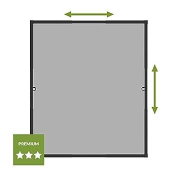 wip Insektenschutz Teleskopfenster 110x130 cm anthrazit//grau Ausziehbares Fliegengitter Fenster