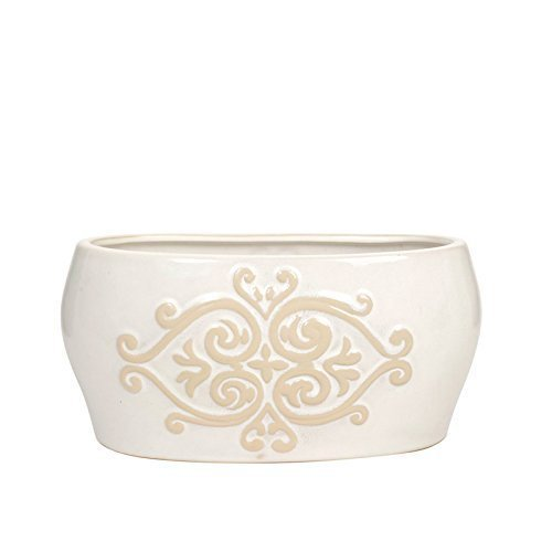 Hosley's 10 Long Ceramic Planter. Ideal for Floral Arrangements, Terrariums, Spas by Hosley International