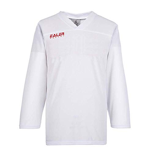 EALER Adult Senior Practice Mesh Lightweight Ice Hockey Team Jersey White M