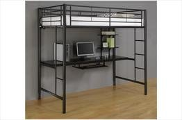 Sunset Metal Twin/Workstation Bunk Bed