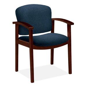 HON 2111NAB90 2111 Invitation Series Wood Guest Chair, Mahogany/Blue (Hon Wood Guest Chairs)