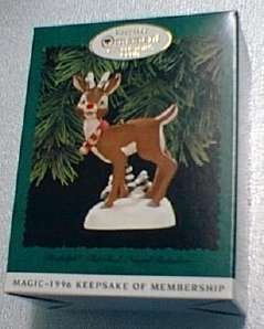1996 MAGIC, RUDOLPH THE RED-NOSED REINDEER Collector's Club Hallmark Keepsake Ornament