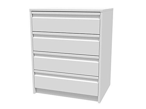 Meka-Block K-7402B - Schubladenschrank-Kit, 4 Schubladen, 60 cm breit, Farbe: weiß.