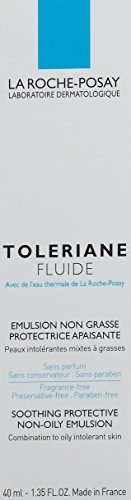 La Roche-Posay Toleriane Fluide Daily Soothing Oil-Free Facial Moisturizer for Sensitive Skin, 1.35 Fl. Oz.