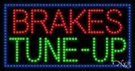LED Brakes Tune-Up Sign for Business Displays Rectangle Electronic Light Up Sign for Auto Industry 17H x 32W x 1D