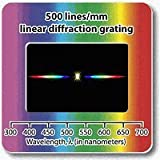 "Diffraction Grating Slide - Linear 500 Lines/mm 2x2""-Pack of 10"