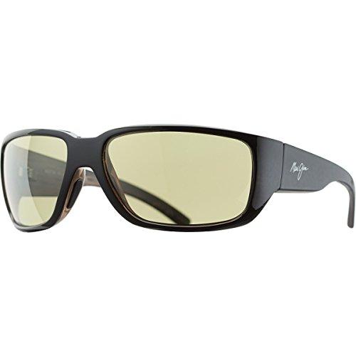 Maui Jim Seawall Sunglasses - Polarized Black-Woodgrain/Maui HT, One Size - Men's