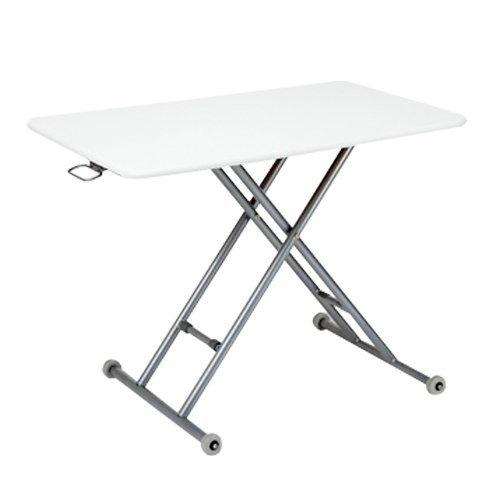 テーブル 昇降 らくらく昇降式フリーテーブル (ホワイト) B01DKF5KGA  ホワイト