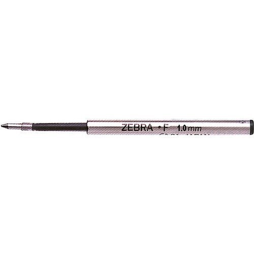 Zebra F-1.0 Medium Point 1.0mm Ballpoint Pen Refill for F-301, F-701, Expandz & Spiral, Pack of 12 - Blue Ink -