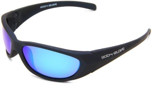 Body Glove FL16A 10201491.QTM Polarized Wrap Sunglasses,Matte Blue Rubberized Frame/Blue Mirror Lens,one - Polarized Sunglasses Glove Body