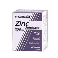 Zinc Sulphate 200mg (45mg elemental Zinc) - 90 Tablets by HealthAid