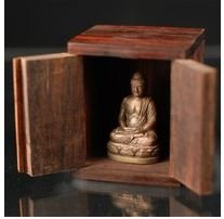 Wood Case for Mini Buddha statue Zushi Miniature Shrine New From Japan - Australia Melbourne Shopping Online In