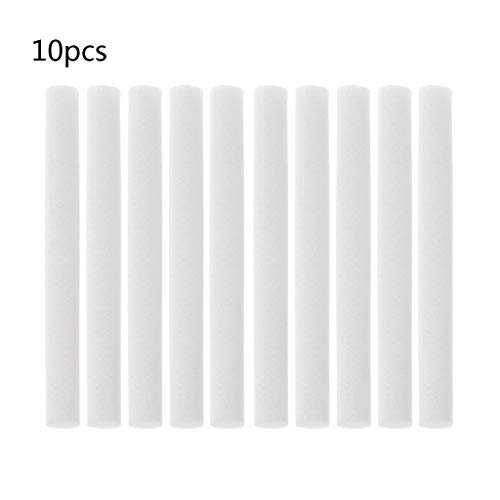 (Hukai 10Pcs 8mmx68mm Humidifiers Filters Cotton Swab For Humidifier Aroma Diffuser)
