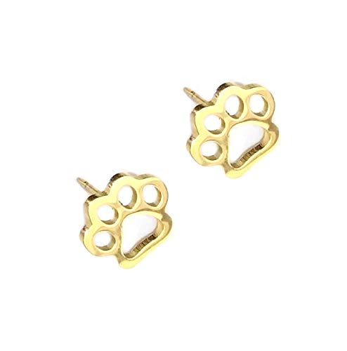 Joji Boutique Golden Paw Print Outline Post Earrings