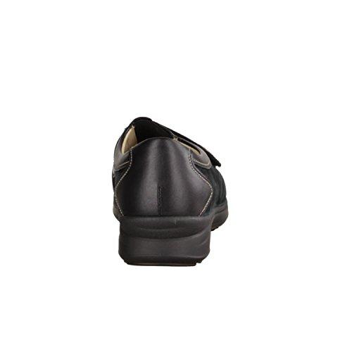 cuero mujer de Finn de cordones negro Comfort para Zapatos negro 0qq1Xx