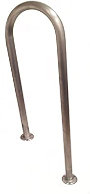 """35"""" (H) x 13"""" (W) Aluminum Handrail - For 8"""" Steps/Stairs - Safety Grab Bar - Dock, Boat, Pool"""