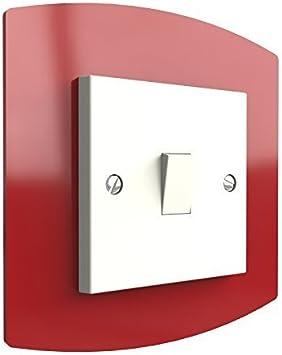 Simple//Double Acrylique Socket Surround-Plug-Interrupteur de lumière-De Doigt