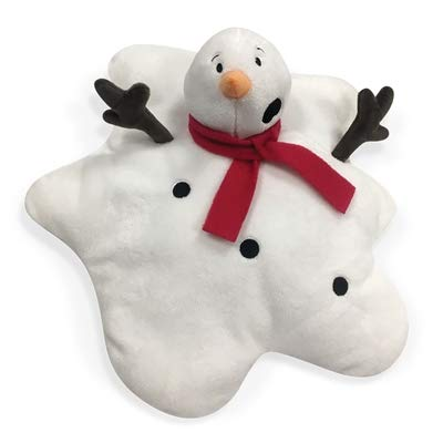 (FOUFIT Jumbo Festive Melting Snowman Plush Dog Toy)