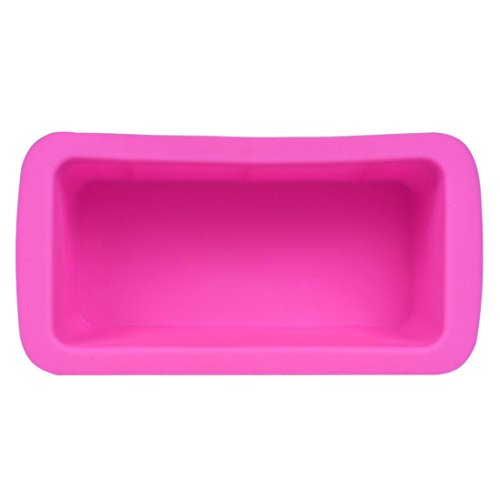 Cake Mold,Prettymenny's Silicone Bread Loaf Non Stick Bakeware Baking Pan Oven Rectangle Mould (Pink) (Canisters Set Tell Us)