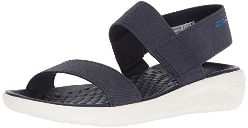 (Crocs Women's LiteRide Sandal, navy/white, 6 M US)