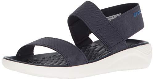 Crocs Women's LiteRide Sandal, navy/white, 6 M US