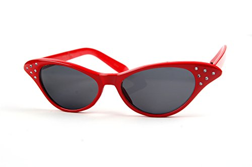 Pop Fashionwear Vintage Style Cat Eye Retro Rhinestones Sunglasses P1009 - With Sunglasses Rhinestones Eye Cat