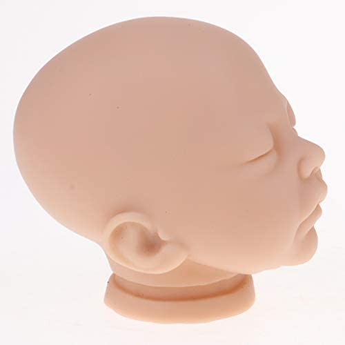 20inch Reborn Head Sculpt Newborn Sleeping Baby Doll Head Mold Unpainted #1