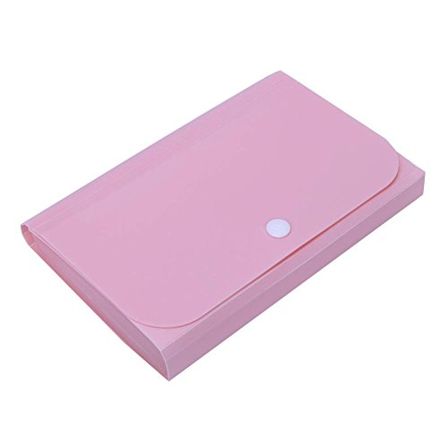Vipeco File Folder Convenient Document Expanding Wallet Manage Holder(Pink)