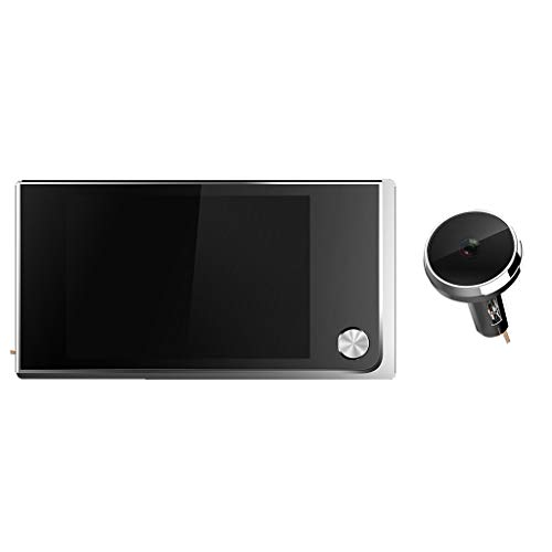 r LCD Peephole viewer Door Camera cam Security Monitor visiable, 120 Wide Degree, Fits Door Width 40-100mm ()