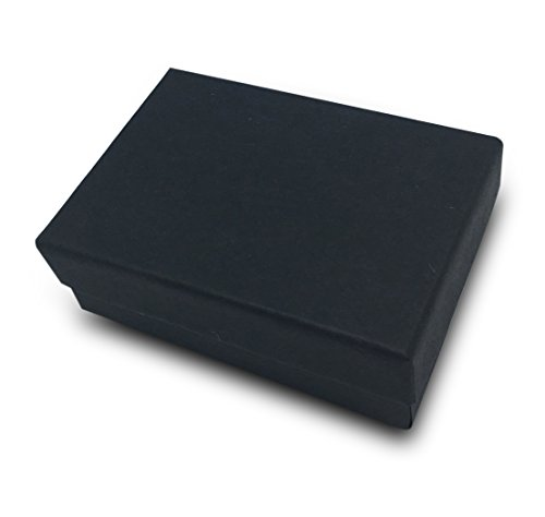 JPI DISPLAY 100 Piece #32 Cotton Filled Boxes, Matte Black (32 Piece Display)