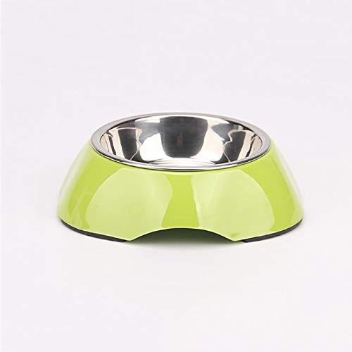 M MXD Pet Supplies Dog Bowl Dog Rice Bowl Single Bowl Pet Bowl Cat Bowl Cat Food Bowl Stainless Steel Rice Bowl (Size   M)