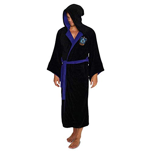 Harry Potter Official Ravenclaw Wizard Fleece Dressing Gown Bathrobe - One Size]()