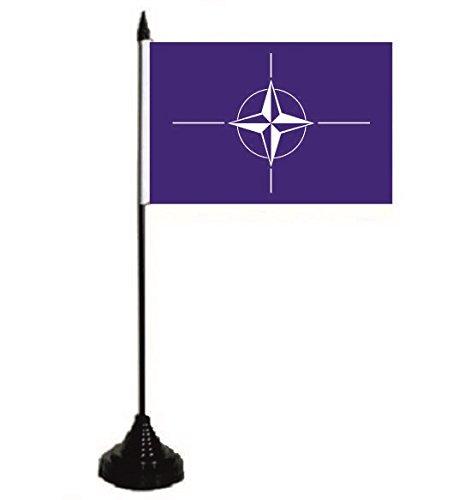 U24 tavolo bandiera Nato Bandiera Bandiera tavolo bandiera 10 x 15 cm