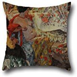 Oil Painting Fernando Fader - Los Mantones De Manila Throw Pillow Case 16 X 16 Inches / 40 By 40 Cm For Play Room,couch,boy Friend,outdoor,him,monther With Each