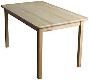 Comedor Mesa 100 x 55 cm, madera de pino maciza, color: natural ...