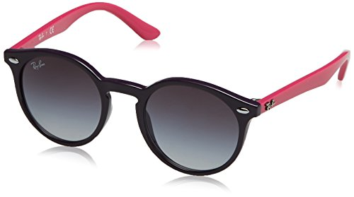 - Ray-Ban Junior RJ9064S Round Kids Sunglasses, Violet/Grey Gradient, 44 mm