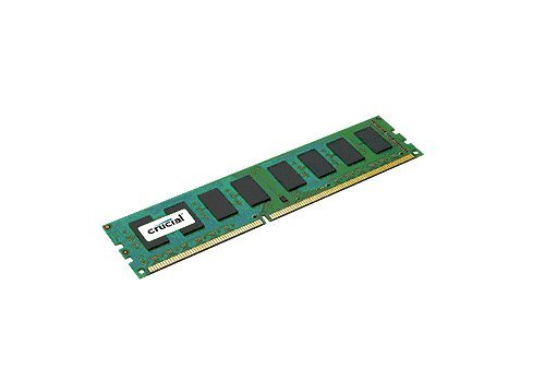 - Crucial 8GB Single DDR3 1600 MT/s PC3-12800 CL11 Unbuffered UDIMM 240-Pin Desktop Memory CT102464BA160B