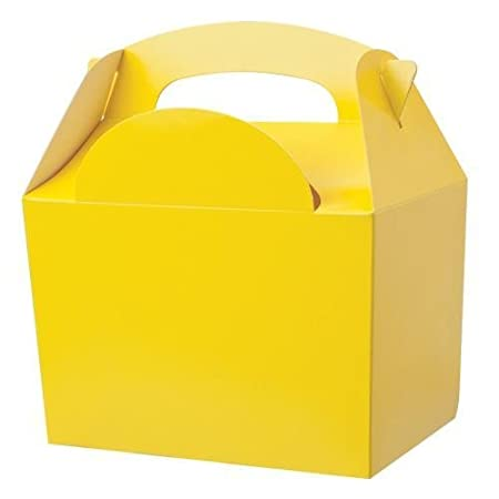 35 X Yellow Birthday Party Food Gift Boxes Kids Lunch Food Meal