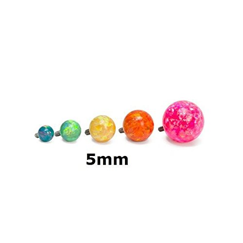 Internally Threaded Replacement - Painful Pleasures 14g - 12g Internally Threaded Opal Replacement Ball - 5mm - Price Per 1-5mm ~ 3/16