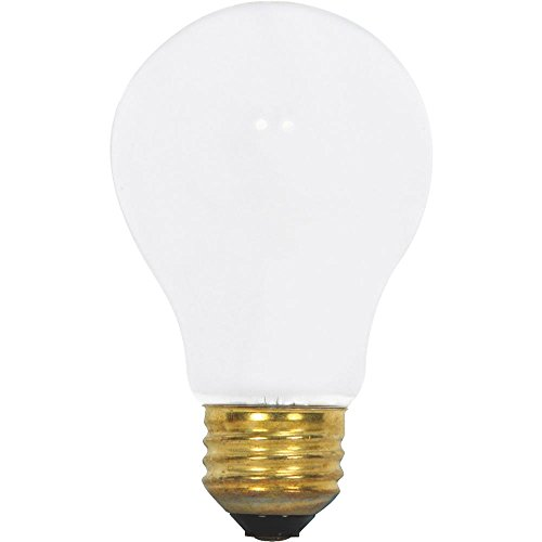 - Satco - 60 Watt A19 Incandescent; Frost; 5000 Average Rated Hours; 560 Lumens; Medium Base; 130 Volts; Rough Service; 6-Pack