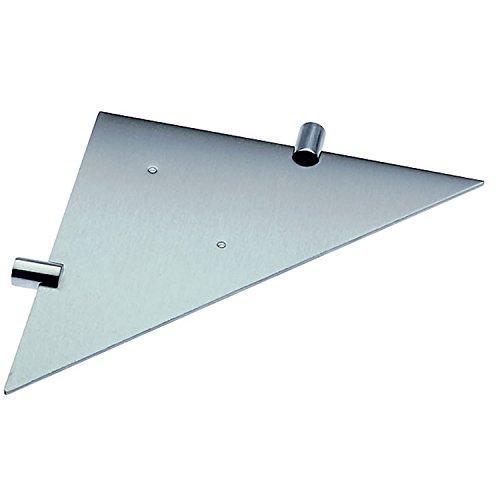 COSMIC Logic Corner Bathroom Shelf, Wall Mount, Stainless Steel Body, Matte Chrome Finish, 15-3/4 x 13/16 x 4-1/8 Inches (2260343) by DAX