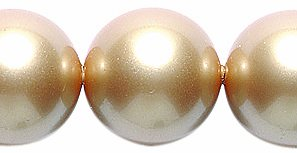 Swarovski 5810 Crystal Round Pearl Beads, 12mm, Vintage Gold, 8-Pack