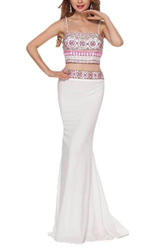 Dobelove Women's Printed Flower Summer Beach Dress Two Pieces Prom Gowns by Dobelove