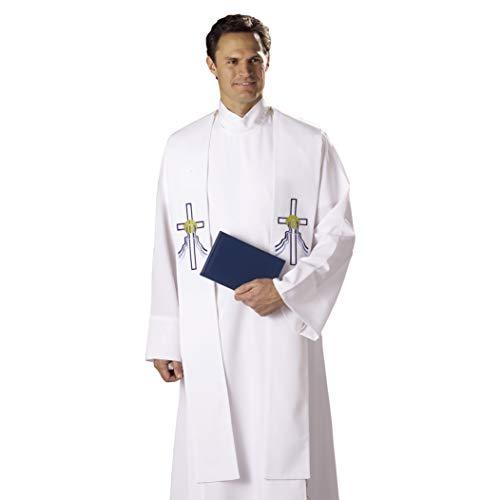 Autom Reversible Baptismal and Wedding Stole, White, One Size -