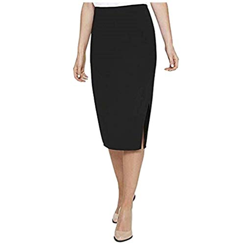 - DKNY Women's Crossover Front Knee-Length Pencil Skirt Black Casual Size 14 $79